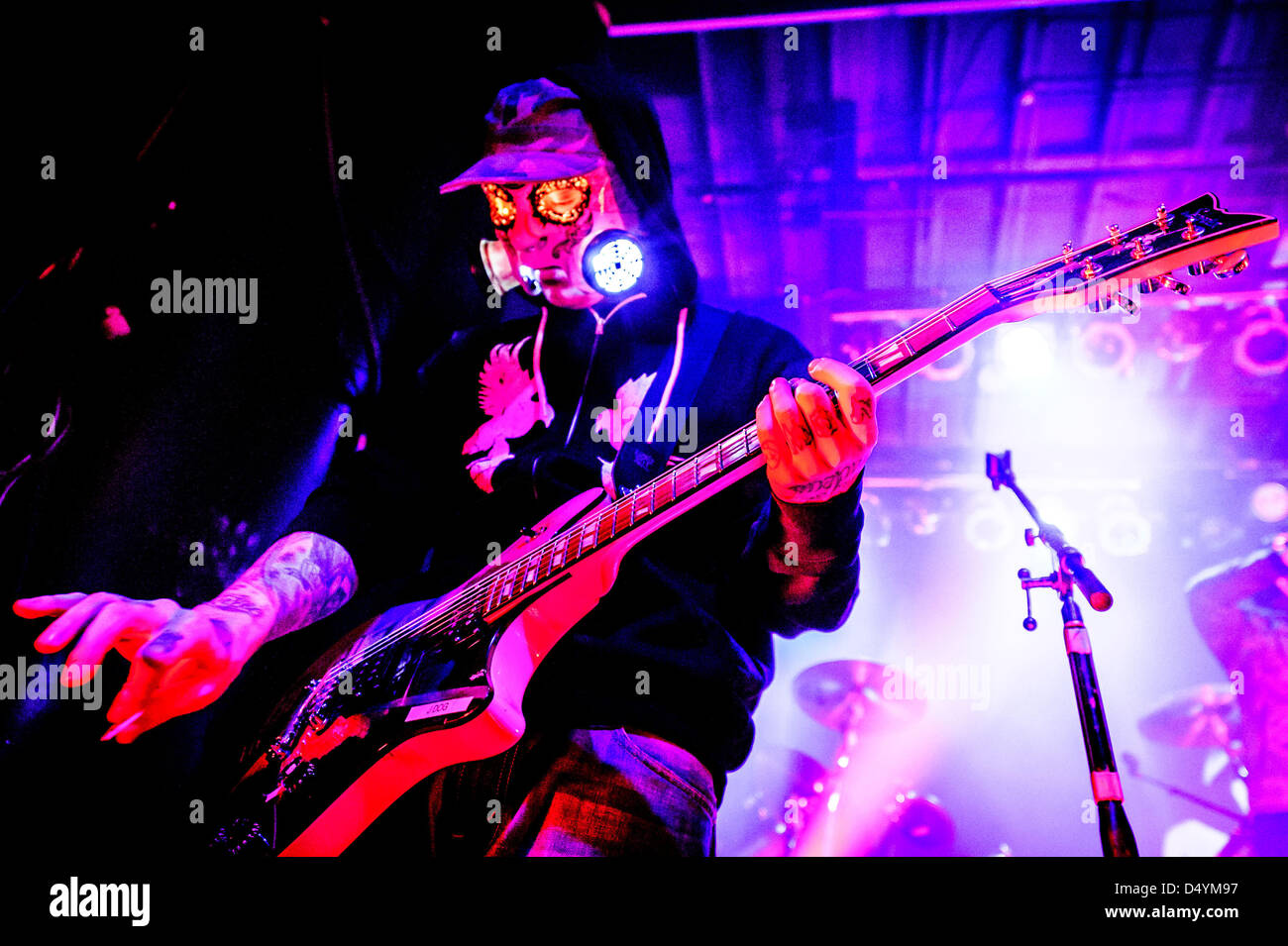Toronto, Ontario, Canada. March 20, 2013. American rap rock band HOLLYWOOD UNDEAD performed a show at Phoenix Theatre Stock Photo