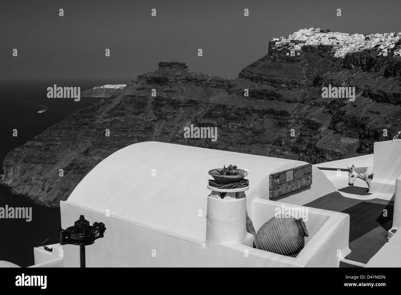Picture taken in Santorini, Greece - Stock Image