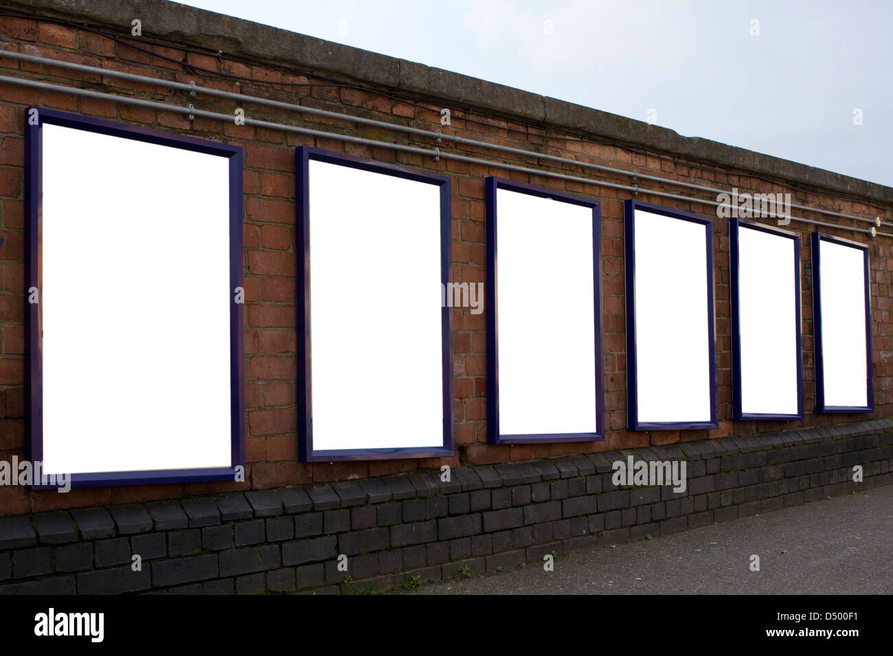 Blank posters at train station - Stock Image