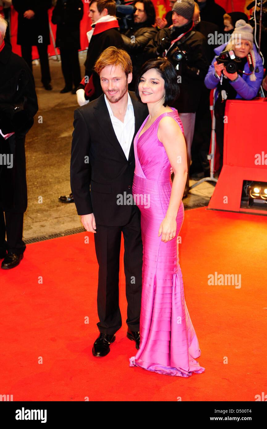 Andreas Pietschmann, Jasmin Tabatabai at the 62nd Berlin International Film Festival (Berlinale) - Farewell my Queen - Stock Image
