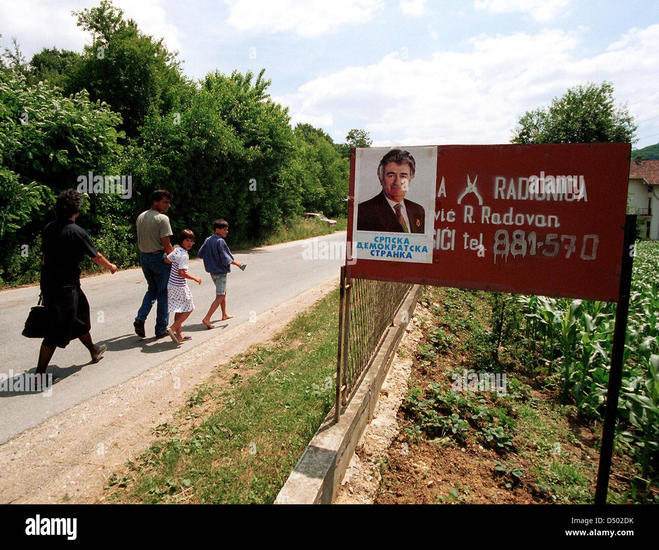 The War In The Former Yugoslavia Stock Photo