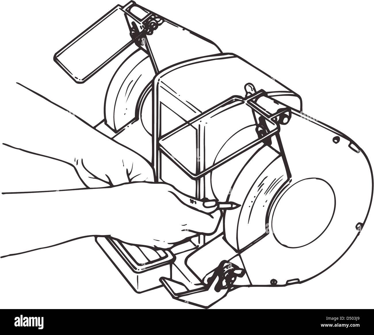 bench grinder stock photos bench grinder stock images alamy Wiring 110 Motor Bench Grinder bench grinder stock image