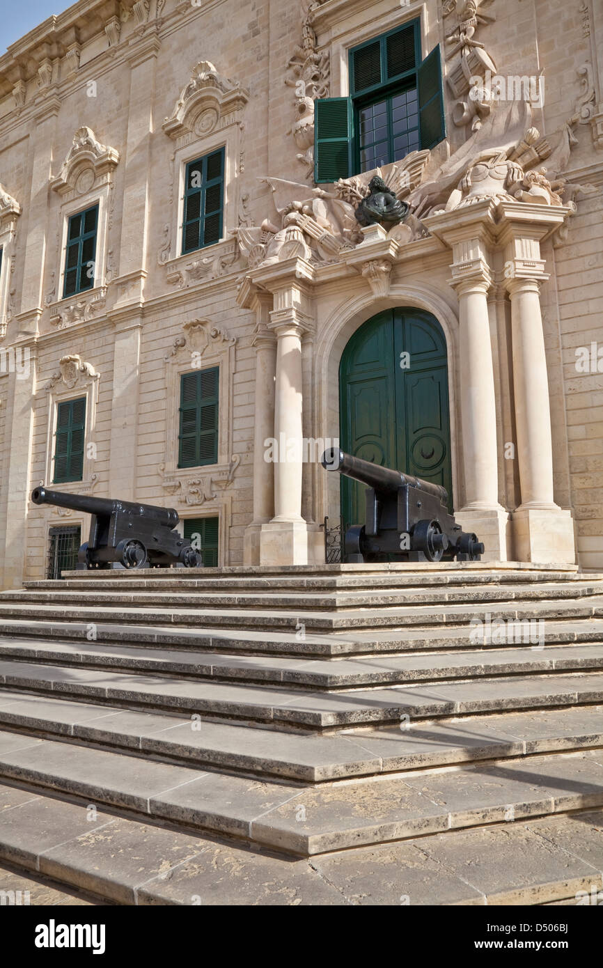 Auberge de Castille is one of Valletta's most magnificent buildings, Valletta, Malta. It houses the office of - Stock Image