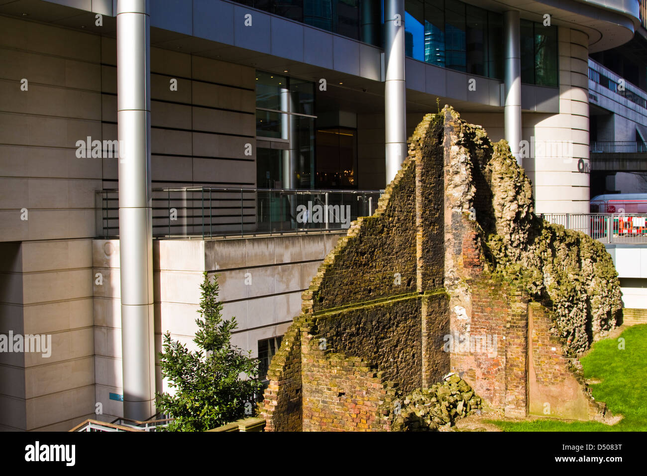 London wall, City of London - Stock Image