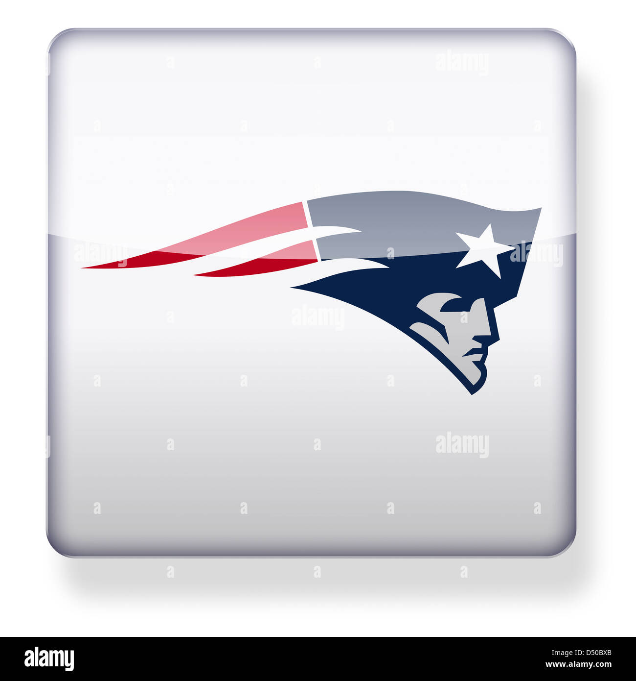 New England Patriots logo as an app icon. Clipping path included. - Stock Image