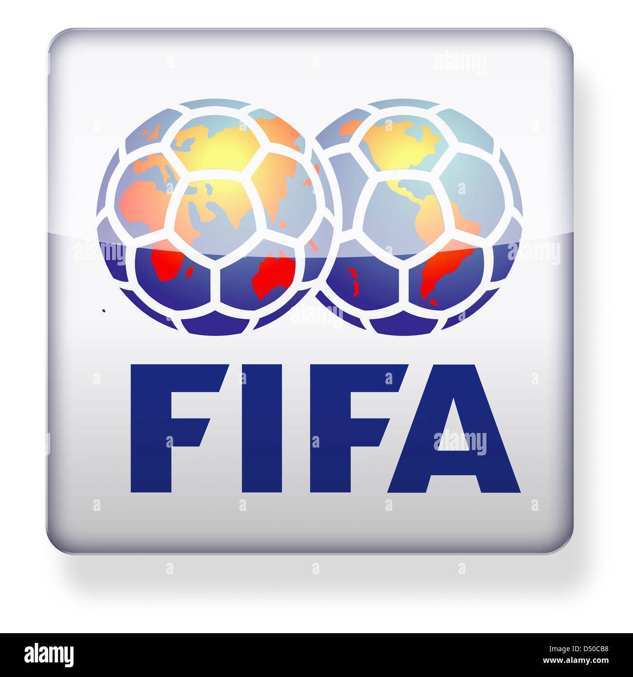 Fifa logo as an app icon. Clipping path included. - Stock Image