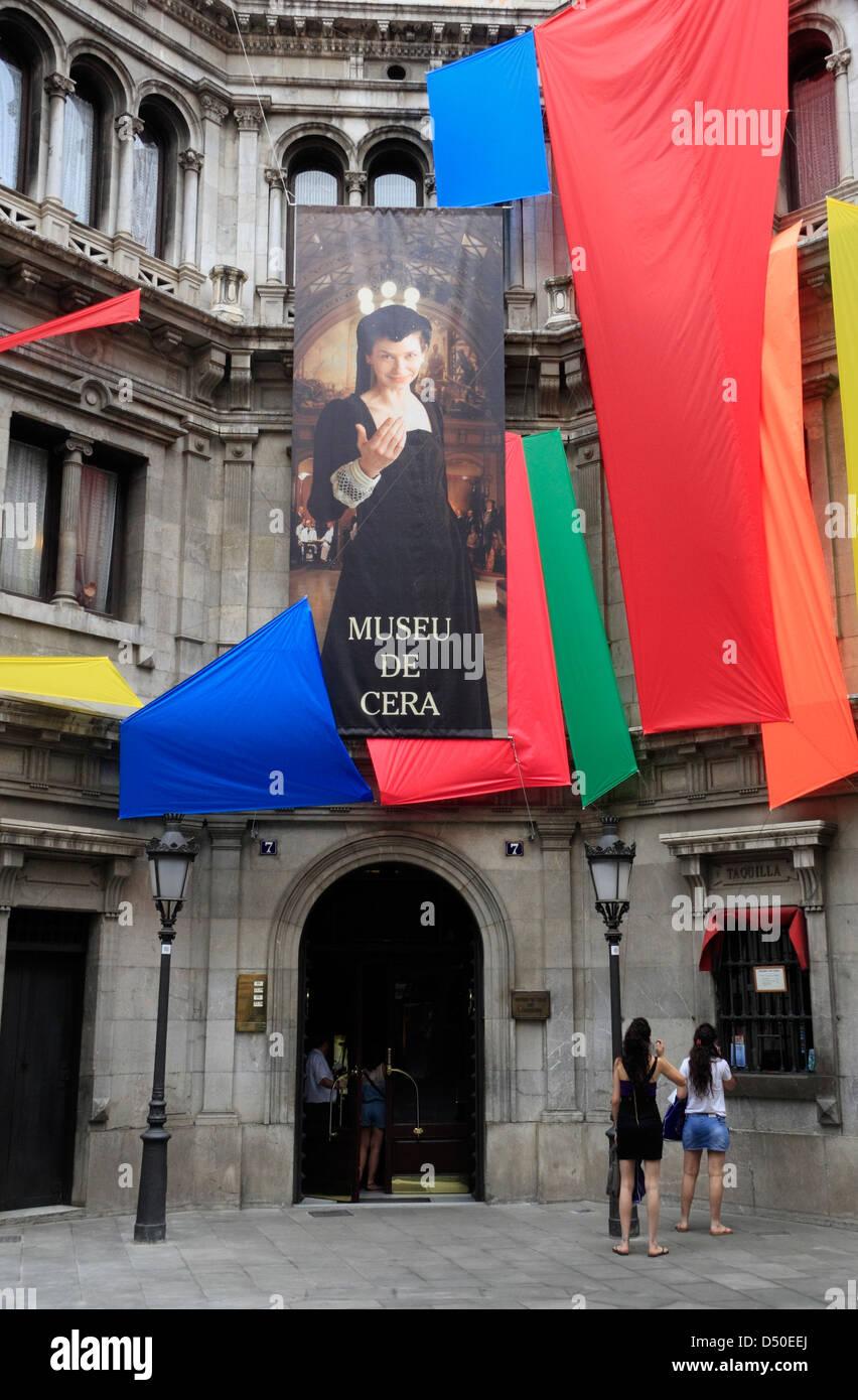 Waxwork Museum (Museu de Cera) in the historic old town, Barcelona, Spain - Stock Image