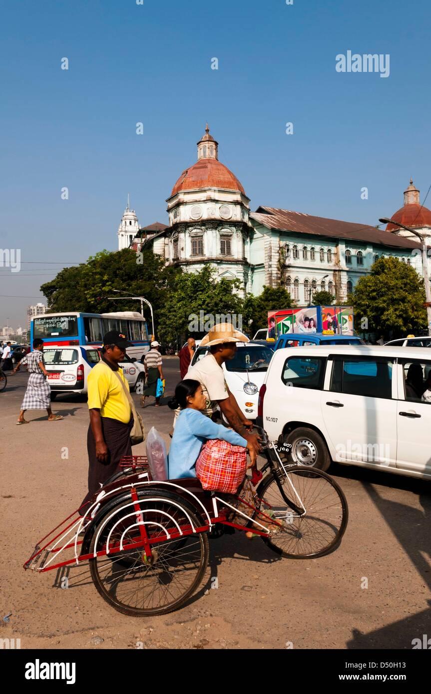 Yangon, Strandroad Stock Photo