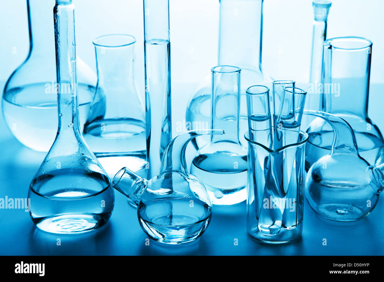 chemical laboratory glassware - Stock Image