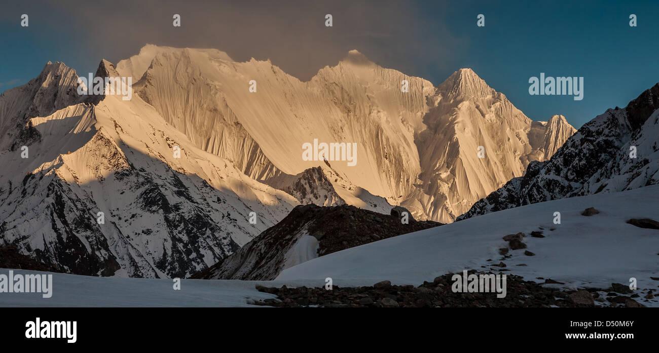 Chogolisa (or Bride Peak) is a mountain in the Karakoram region of Pakistan. - Stock Image