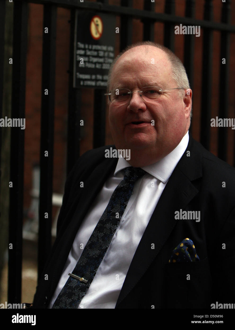 London, UK. 20th March 2013. Eric Pickles, Secretary of State for Communities and Local Government. Pic: Paul Marriott Stock Photo