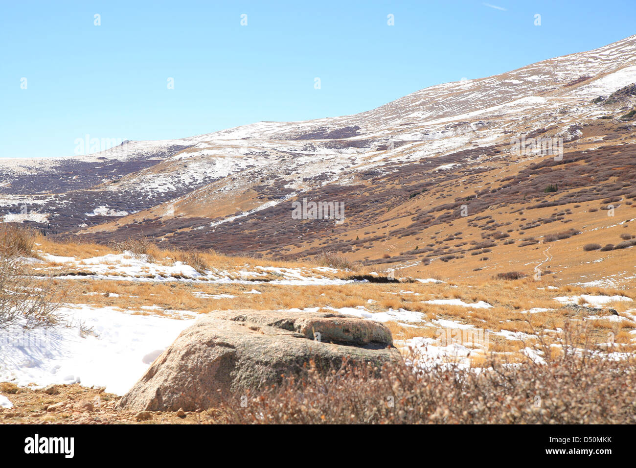 Scenic view in Guanella Pass in Summit County, Colorado - Stock Image