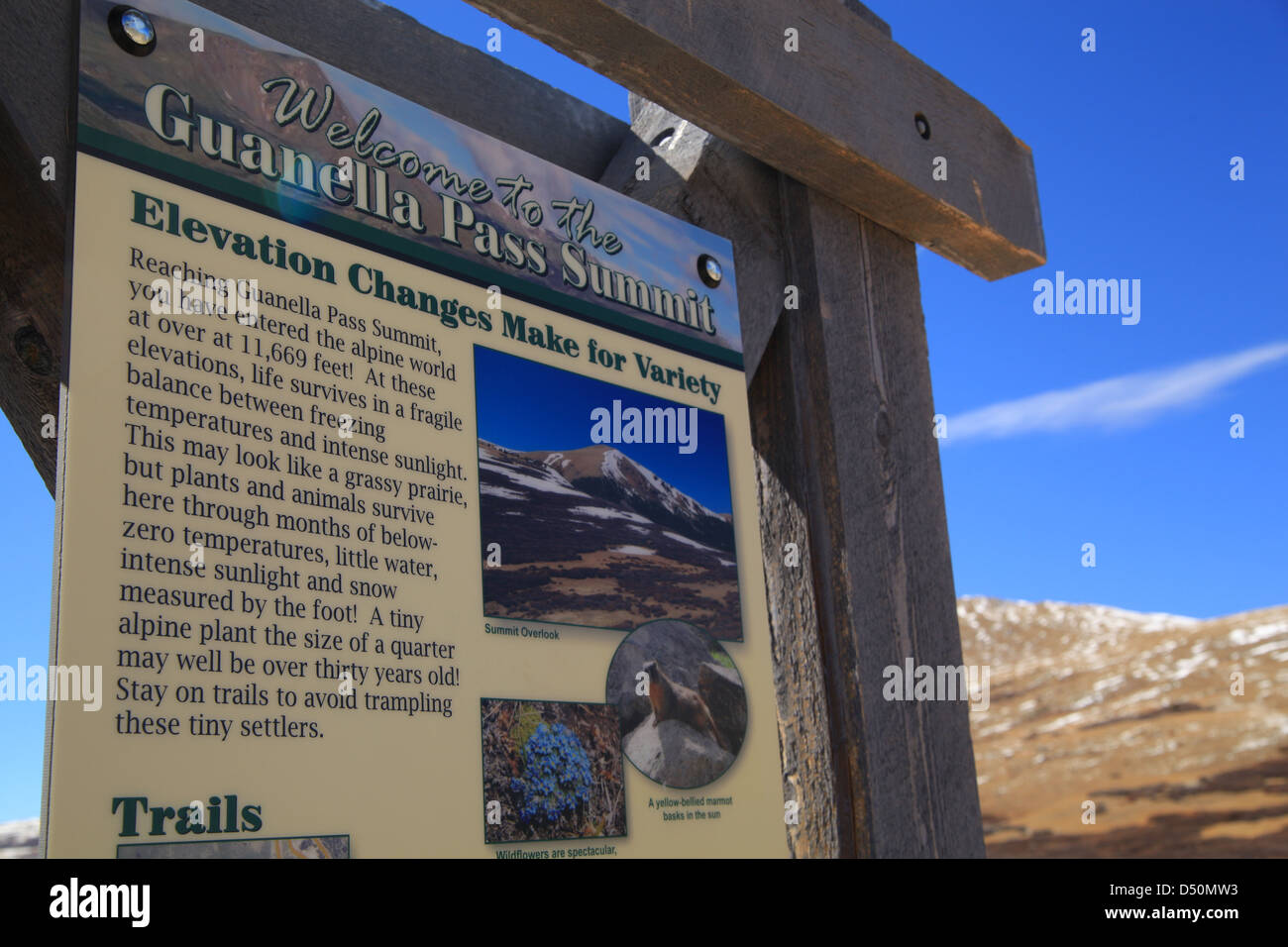 Guanella Pass in Summit County - Stock Image