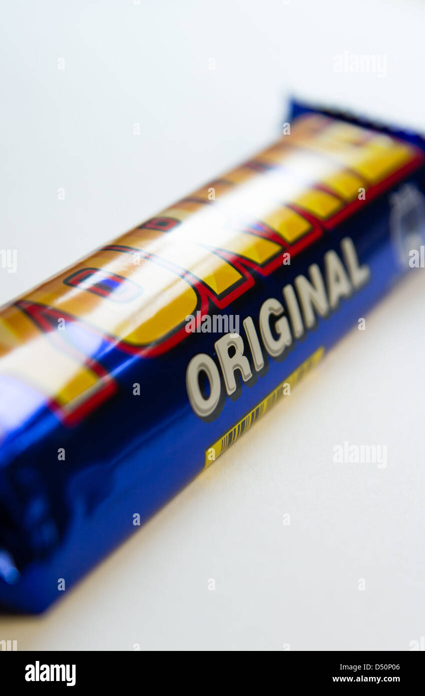 Close up of a wrapped Yorkie Bar - Stock Image