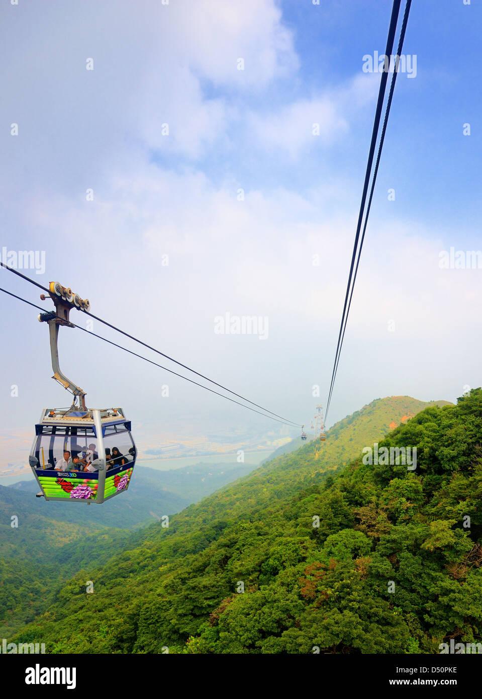 Ngong Ping Cable Car October 15, 2012 in Hong Kong, PRC. - Stock Image
