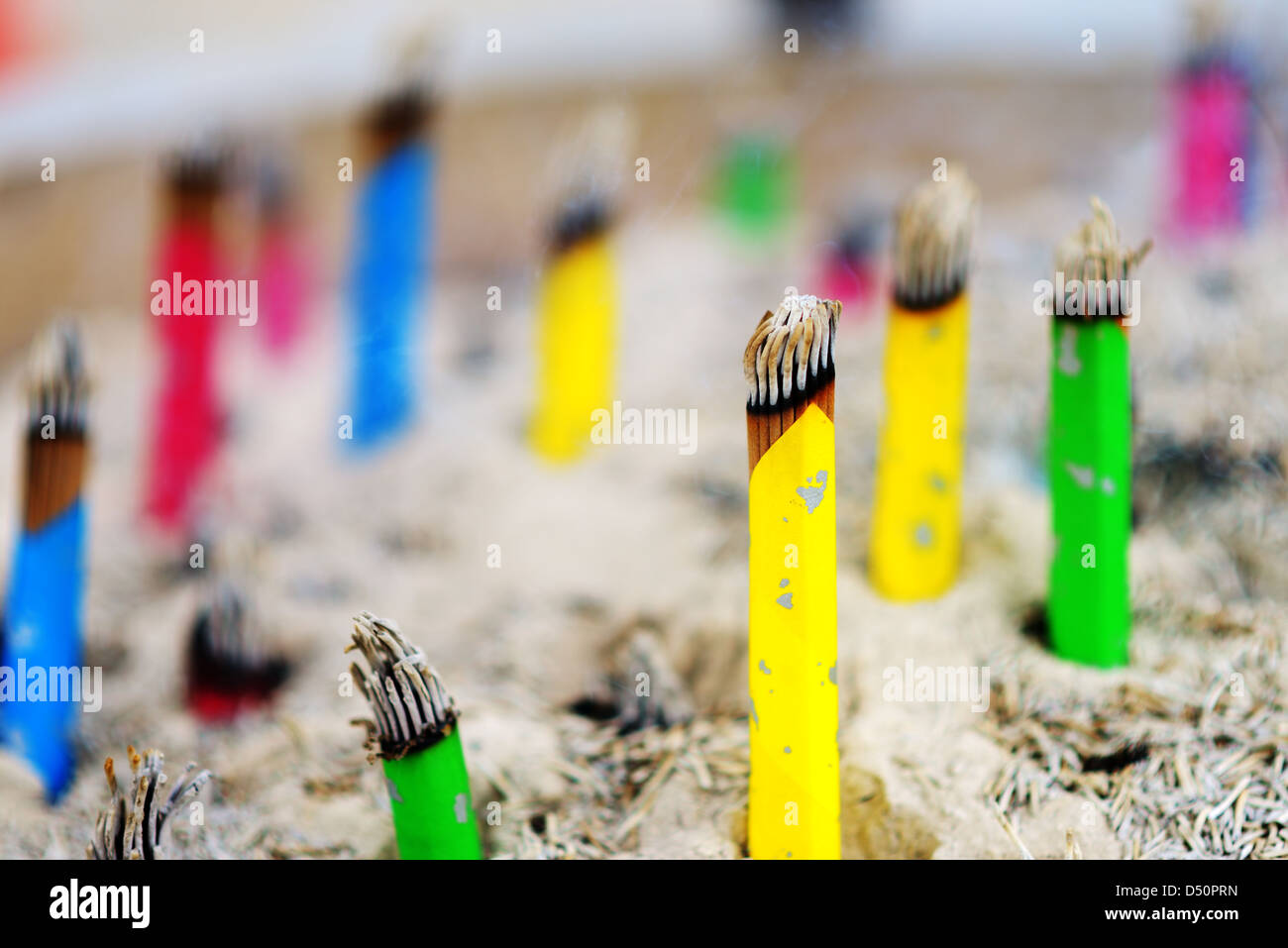 Incense at a Chinese Temple - Stock Image