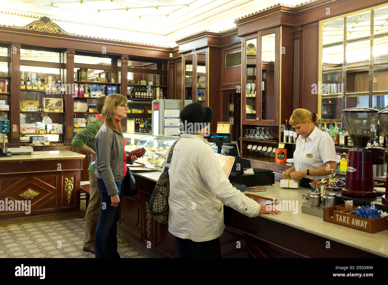 Tallinn, Estonia, guests at Cafe Maiasmokk - Stock Image