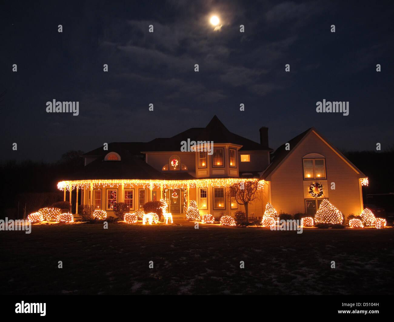 Christmas House - Stock Image