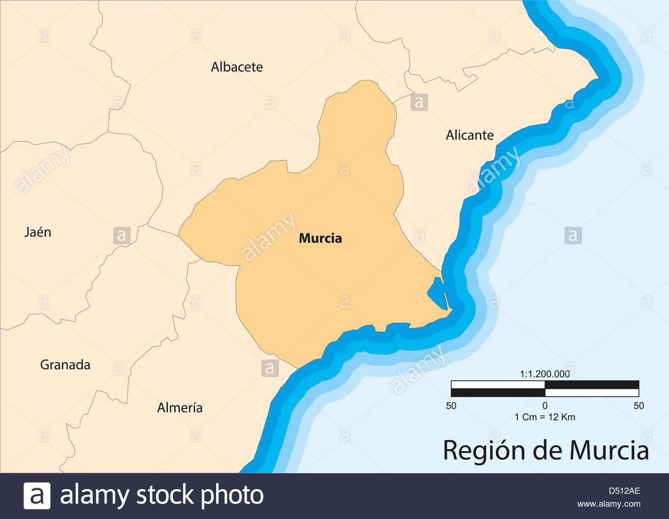 Mapa Region De Murcia.Vector Map Of Region Of Murcia Region De Murcia Spain