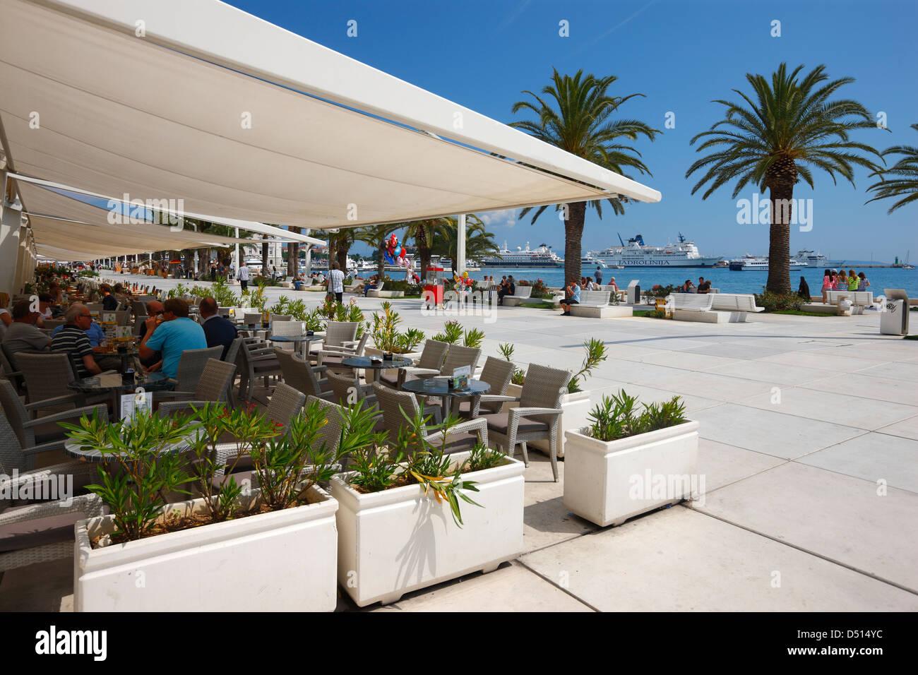 Split, view on ferry port - Stock Image