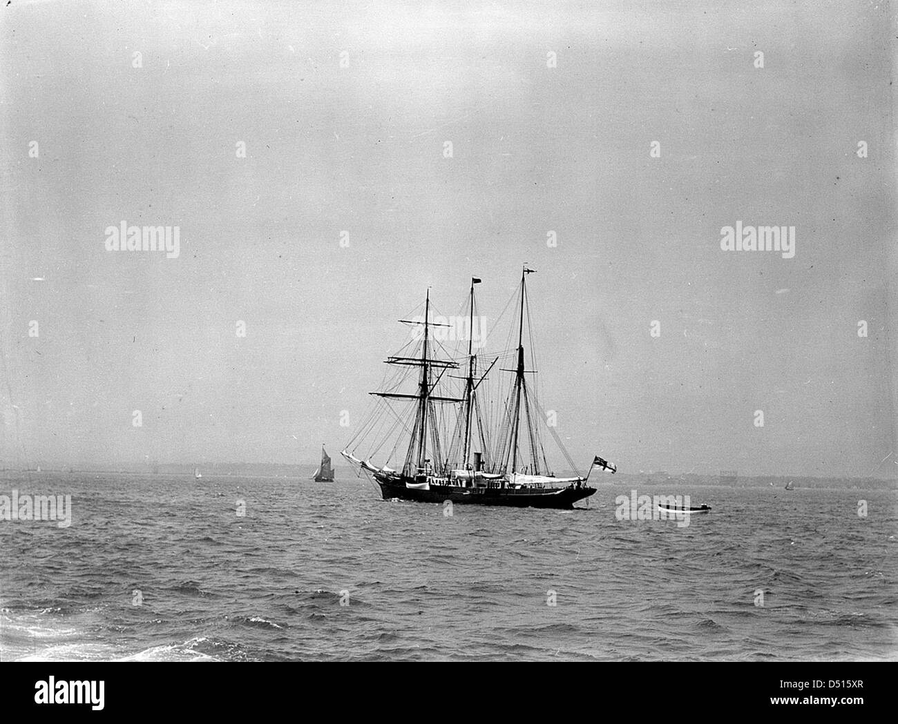 The steam yacht 'Sunbeam' anchored at Spithead - Stock Image