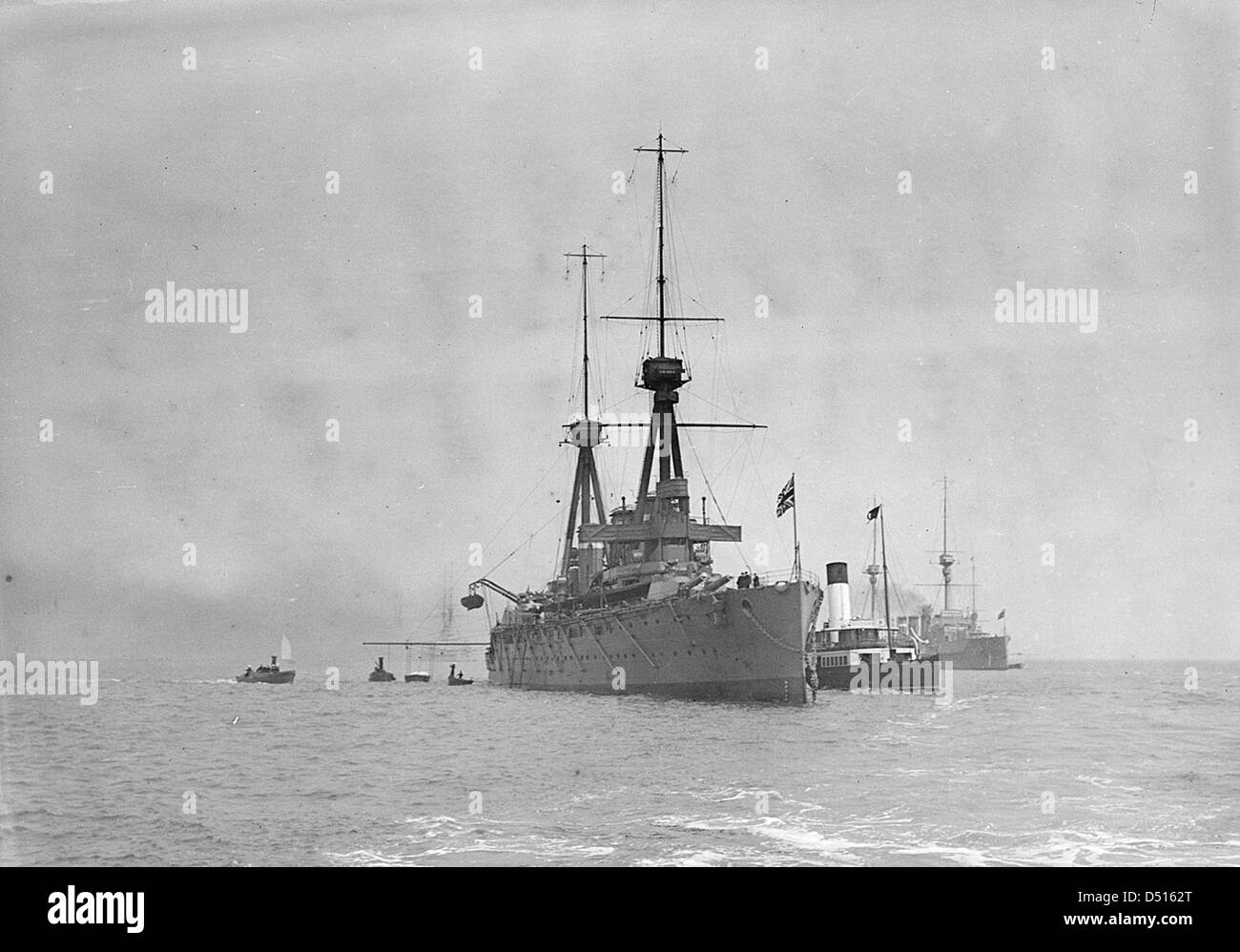 HMS 'Invincible' anchored at Spithead - Stock Image