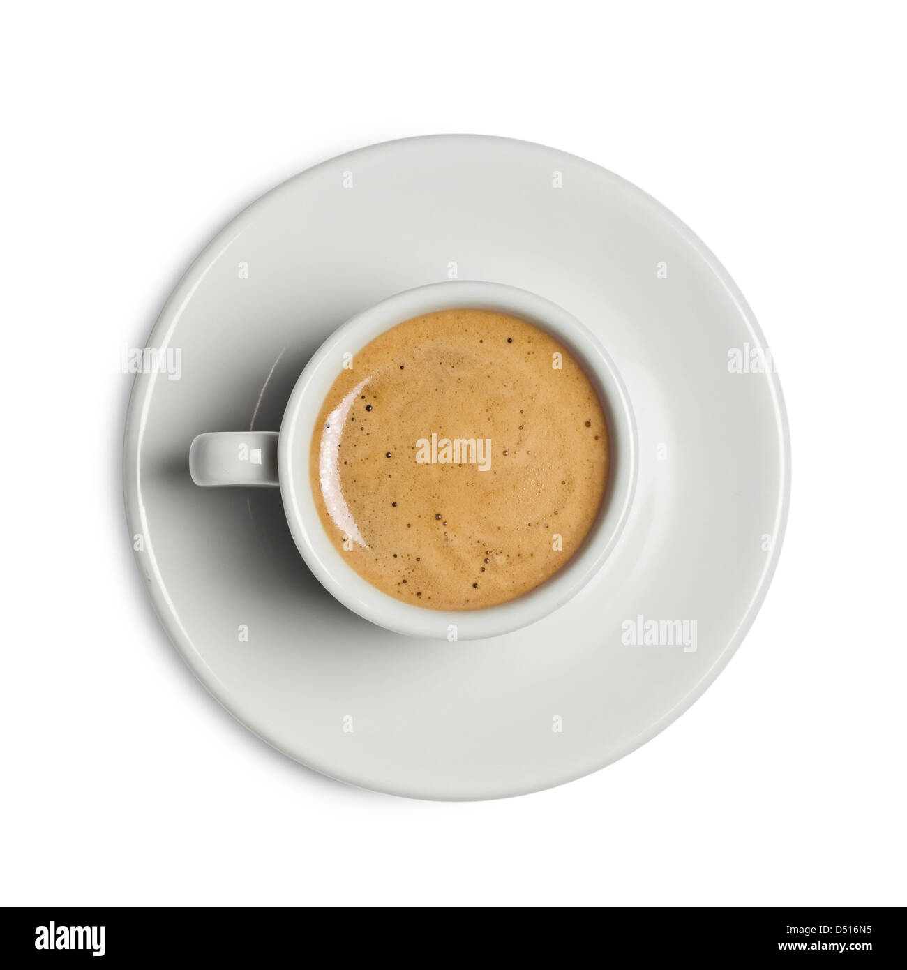 coffee cup isolated on white - Stock Image