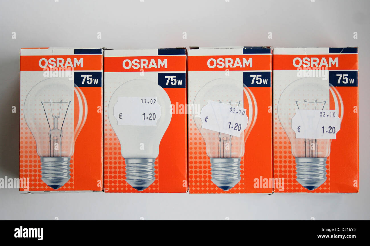 stuttgart germany 75 watt incandescence of osram stock photo