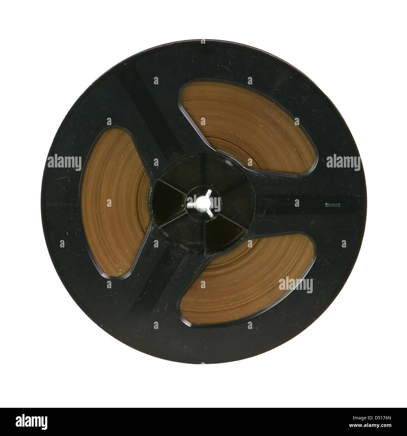black bobbin isolated on white - Stock Image