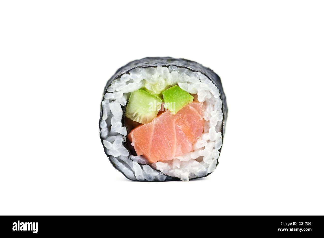 sushi roll isolated on white - Stock Image
