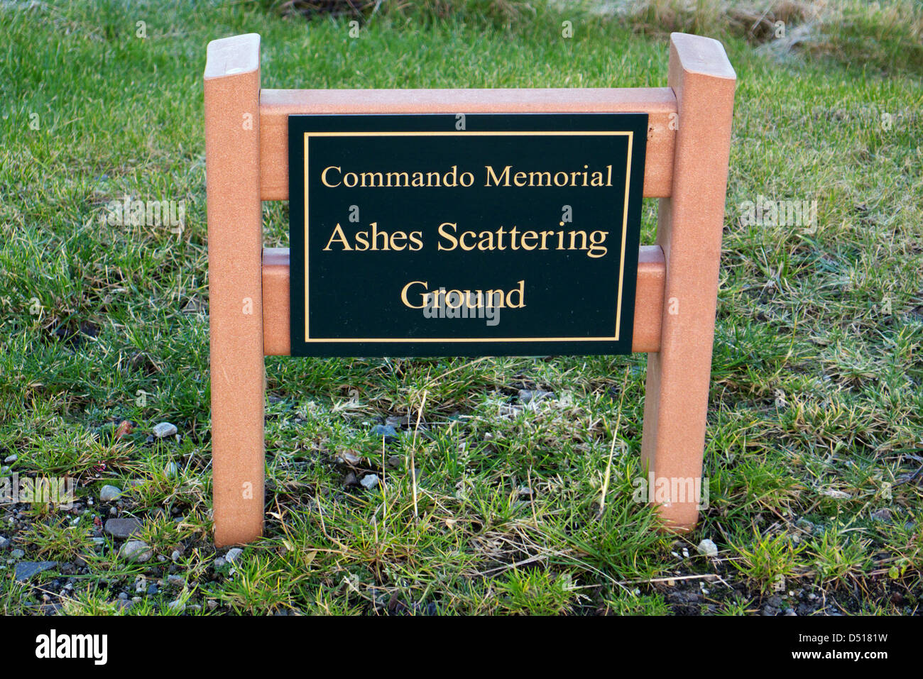 The Ashes scattering ground at the Commando Memorial at Spean Bridge, Scotland - Stock Image