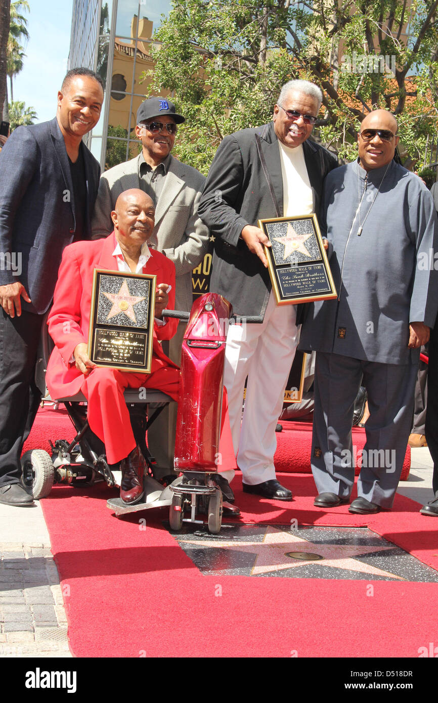 March 20, 2013 - Hollywood, California, U.S. - I15595CHW .The Funk Brothers Honored With Star On The Hollywood Walk - Stock Image