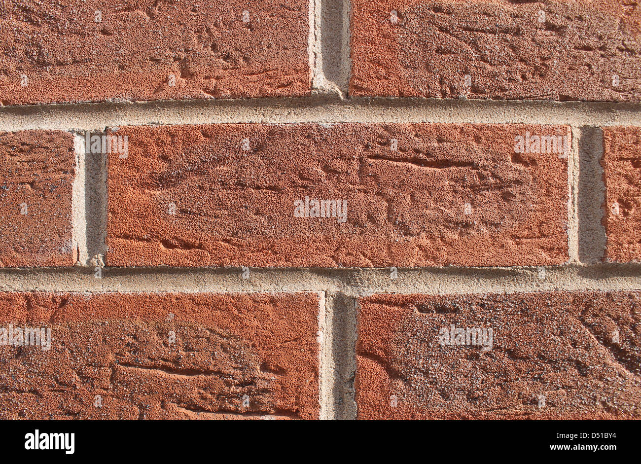 Abstract textured background of red brick wall. - Stock Image