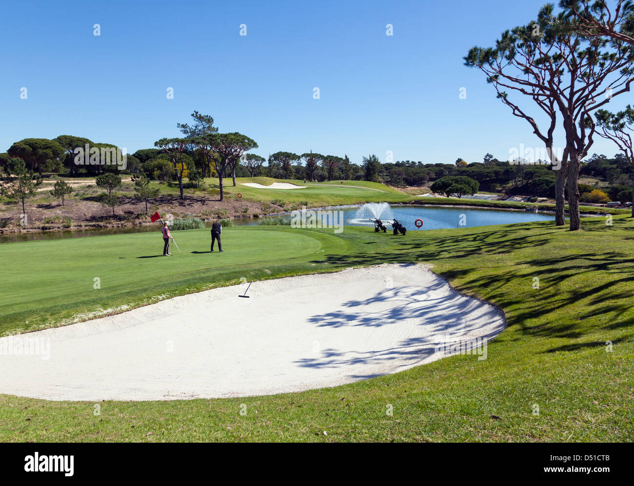 Putting green - Stock Image