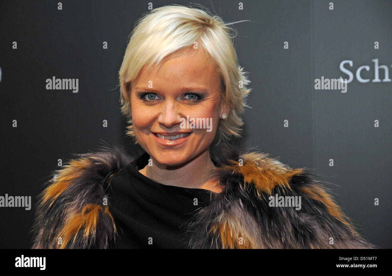 Doctor and anti-age-expert Barbara Sturm is pictured in Duesseldorf, Germany, 14 December 2010.  Barbara Sturm is - Stock Image
