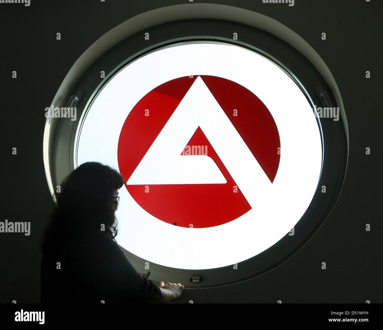 Afile picture dated 24 May 2007 shows the logo of the German 'Agentur fuer Arbeit' employment agency in Gelsenkirchen, Stock Photo