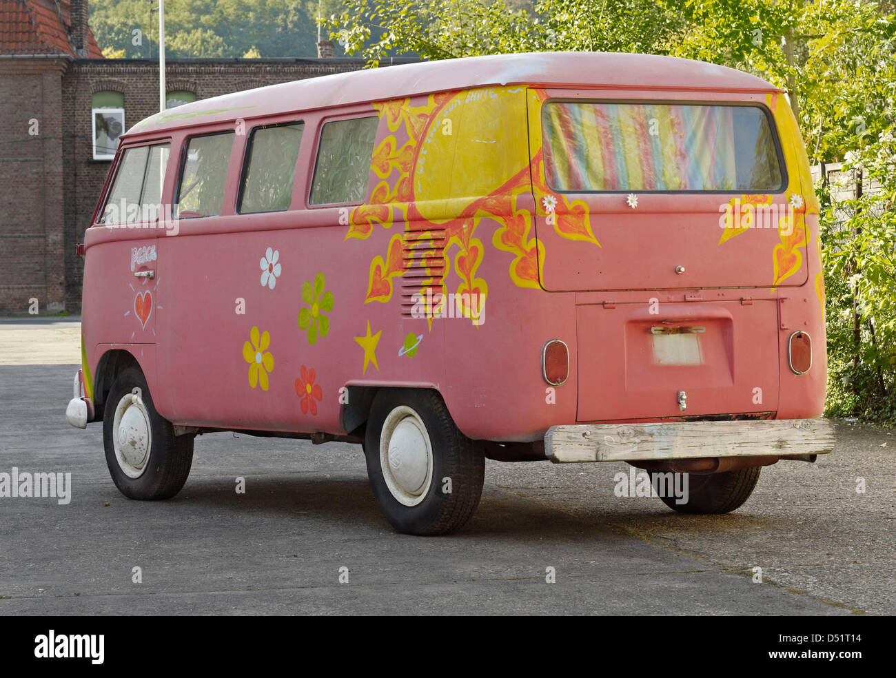 An Undated Handout Picture Shows A Volkswagen Hippie Bus From The