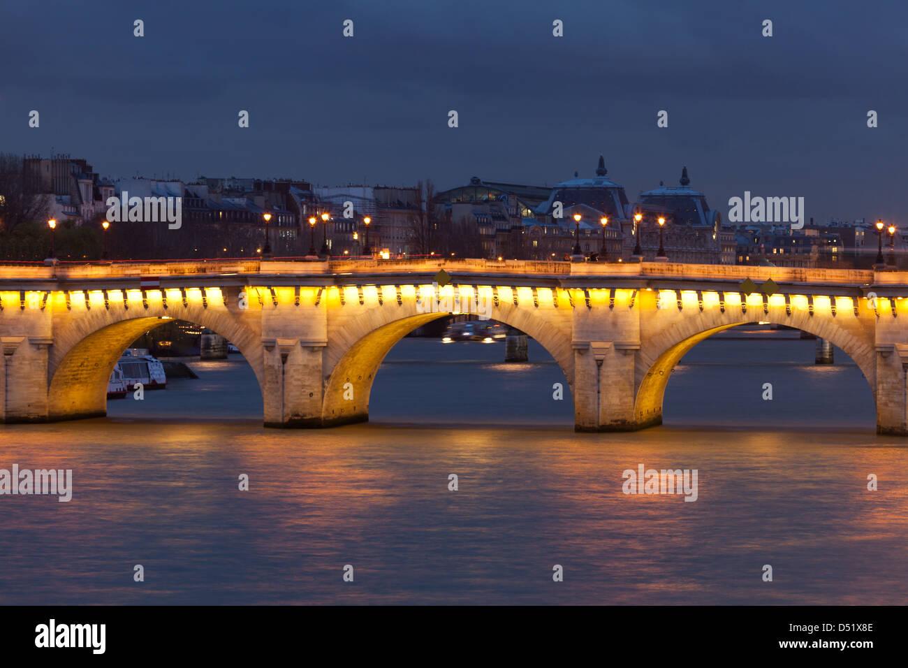 Pont Neuf in Paris, France - Stock Image