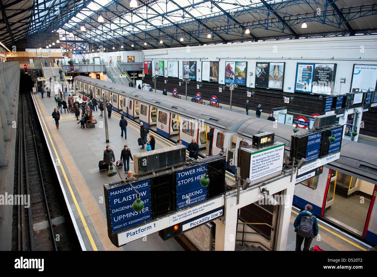Earl's Court underground station, London, UK - Stock Image