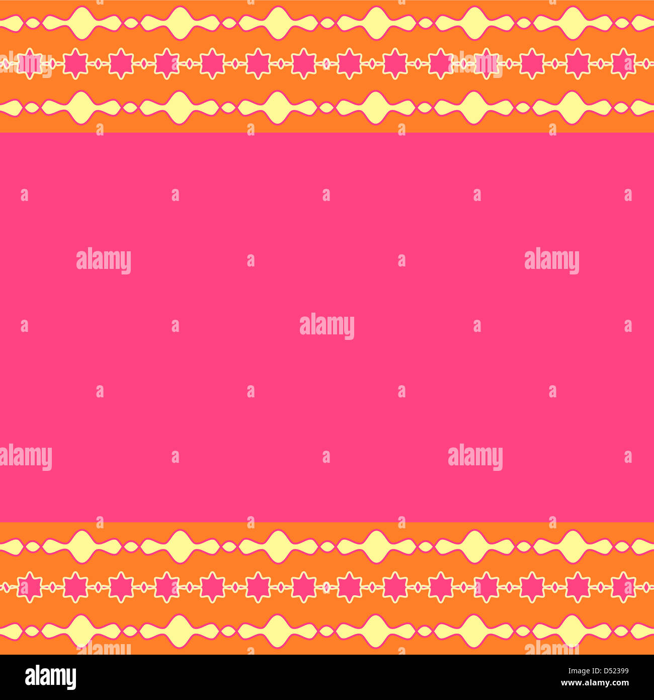 Artistic border design with colorful  copy space Stock Photo