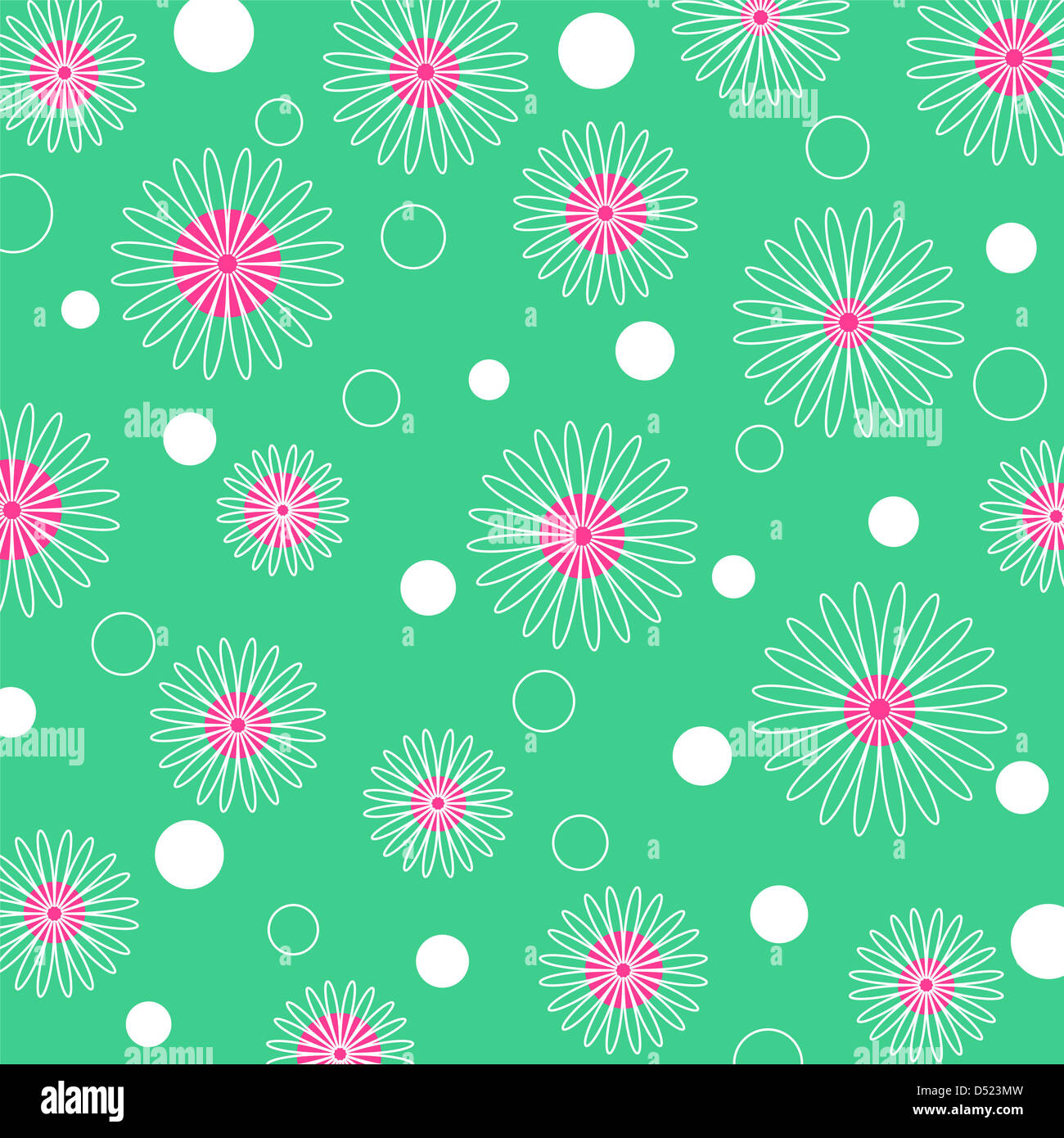 Seamless colorful floral pattern Stock Photo