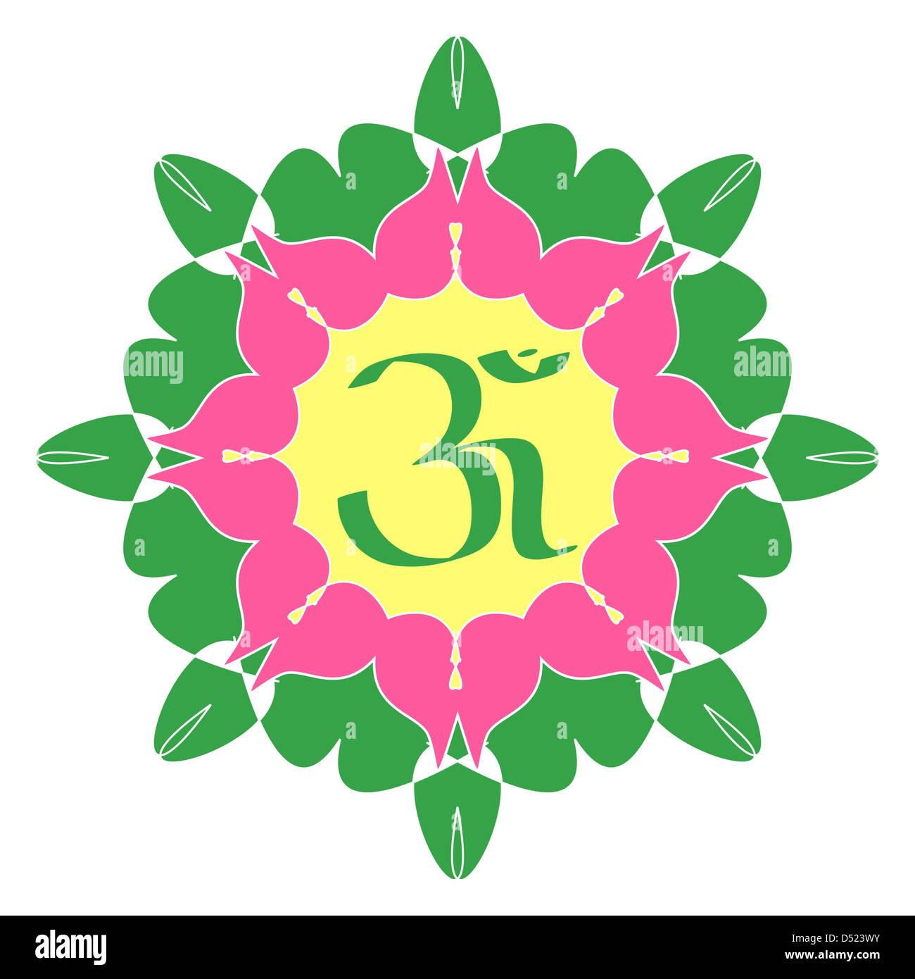 Divine Om Symbol On Artistic Design Stock Photo 54751367 Alamy