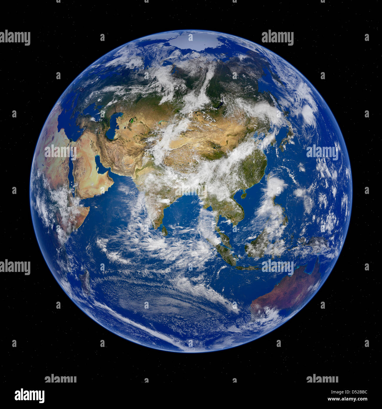 Earth View From Space Asia And China Stock Photo