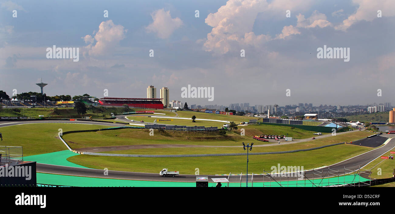 Circuit Interlagos : View over autodromo jose carlos pace circuit in interlagos sao