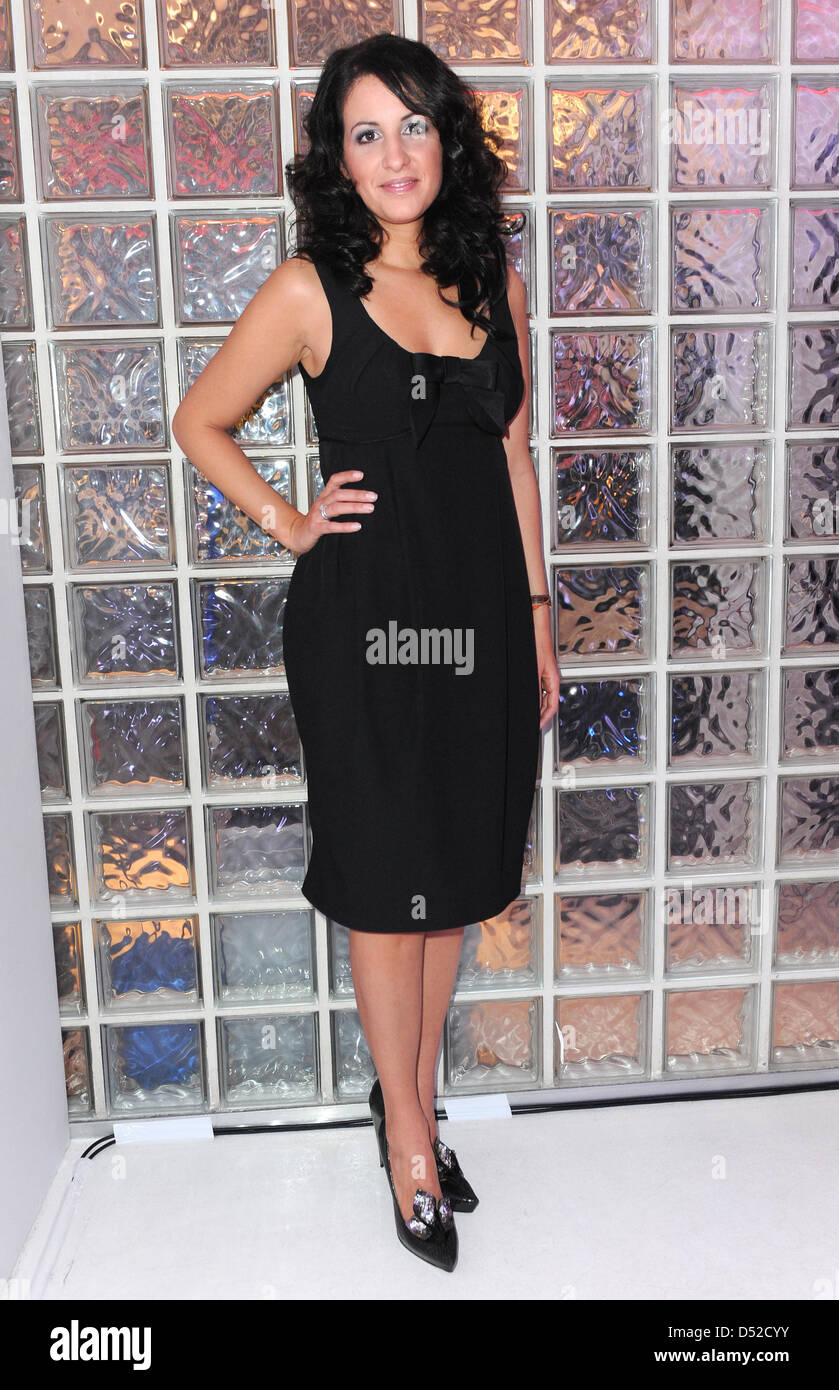 Minu Barati-Fischer attends the fashion label 'Unrath &Strano' trunkshow in Cologne, Germany, - Stock Image
