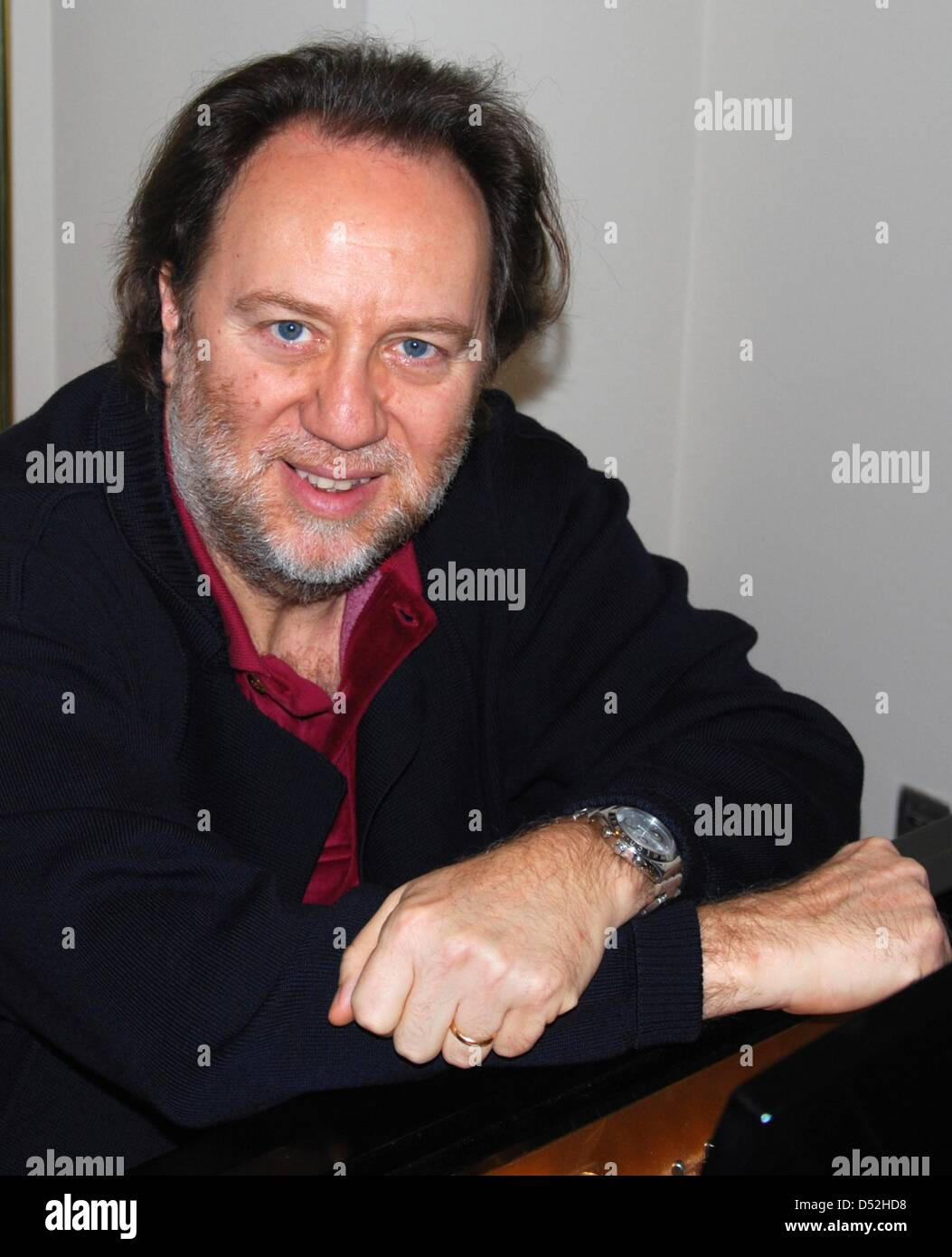 Riccardo Chailly, senior conductor of Leipzig's 'Gewandhaus' orchestra seen on the sidelines of the - Stock Image