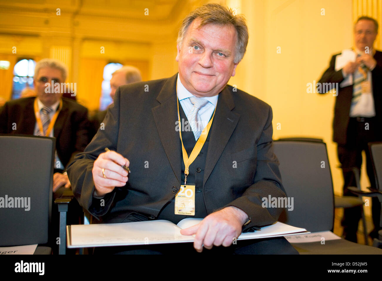 Former German Federal Minister of Transport Guenther Krause of CDU (Christian Democratic Union) attends the festive - Stock Image