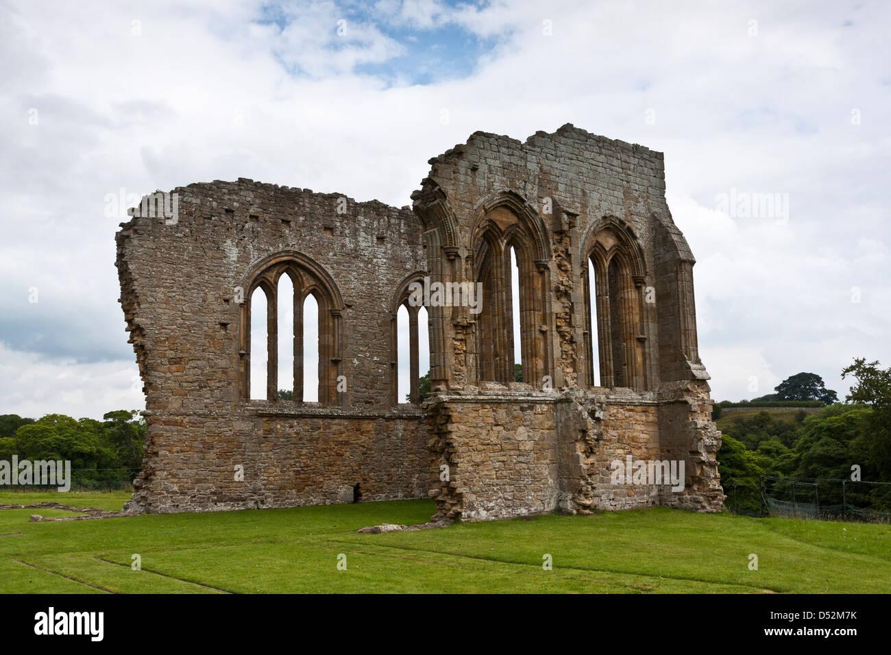 Egglestone Abbey North Yorkshire - Stock Image