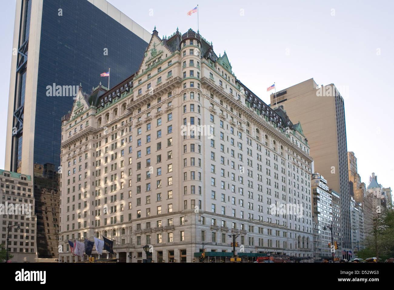 New York City, USA, the luxury hotel The Plaza - Stock Image