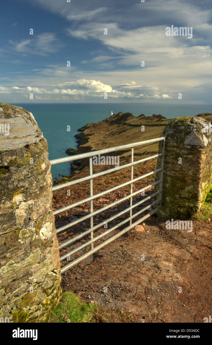 The Start Point peninsula and Start Point Lighthouse in South Devon - Stock Image